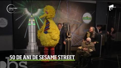 Empire State Building din New York sărbătoreşte 50 de ani de Sesame Street