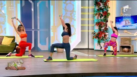 Fitness cu Diana Stejereanu, la Neatza cu Răzvan și Dani. Antrenament pentru o talie mai suplă
