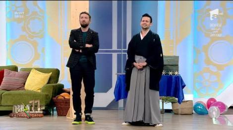 Neatza cu Răzvan și Dani. Magicianul samurai Robert Tudor a băgat frica în Dani Oțil: Stai nemișcat!