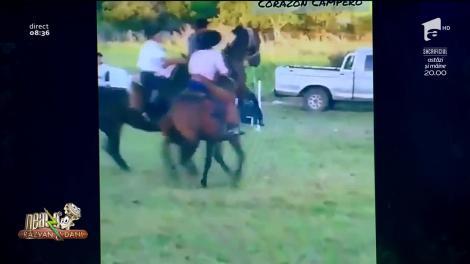 Cel mai tare călăreţ din istoria rodeo! Cum a încercat armăsarul să scape - VIDEO