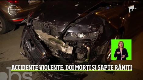 Accidente violente pe șoselele din România! Doi tineri, de 18 şi 25 de ani, au murit, iar alţi şapte au fost răniţi, printre care şi un minor