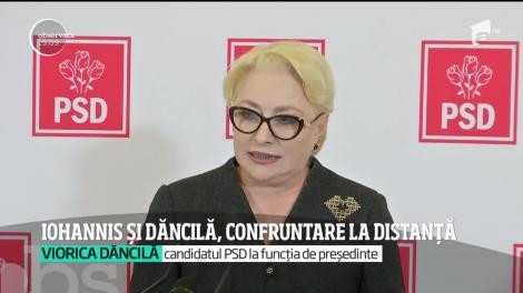 Klaus Iohannis şi Viorica Dăncilă, confruntare la distanță