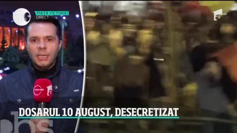 Documentele Ministerului de Interne referitoare la protestul din 10 august 2018, declasificate şi trimise procurorilor DIICOT