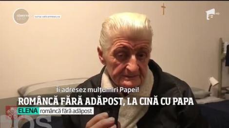La prima cină în noua casă, o româncă săracă din Italia l-a avut ca musafir pe Papa Francisc