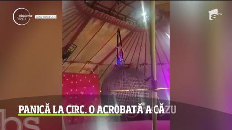 Panică la circ, în Hunedoara! O acrobată a căzut în gol