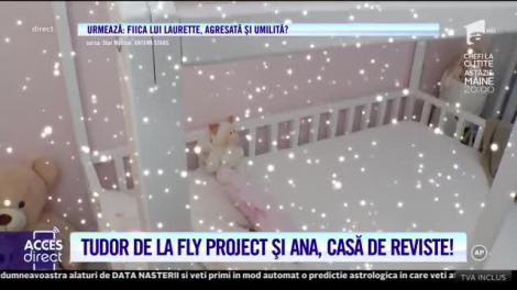 Acces Direct. Tudor de la Fly Project şi Anamaria i-au făcut fiicei lor, Ilinca, o cameră cum nici prinţesele nu au!