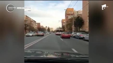 Cursă infernală în Cluj-Napoca! O maşină este condusă inexplicabil pe contrasens