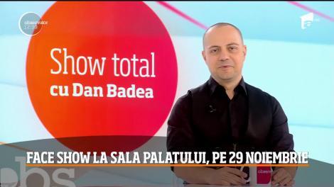 Dan Badea, spectacol de comedie la Sala Palatului, pe 29 noiembrie