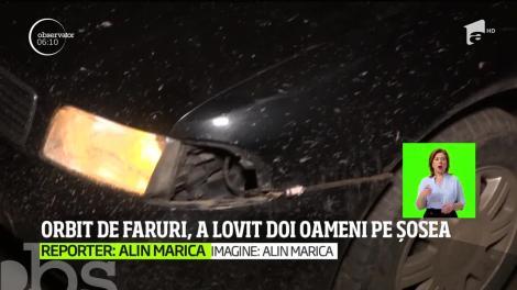 Orbit de faruri, un șofer din judeţul Mehedinţi a pierdut controlul volanului  și a băgat în spital doi oameni