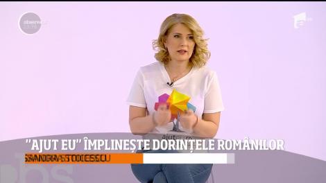 """""""Ajut eu"""" împlinește dorințele românilor. Alessandra Stoicescu, despre cum putem transforma visul unor oameni în realitate"""