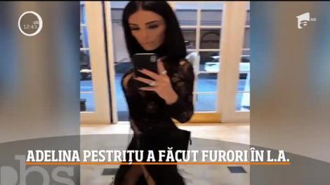 Adelina Pestriţu, câştigătoarea premiul pentru cel mai bun influencer din România, a strălucit pe covorul roșu Los Angeles