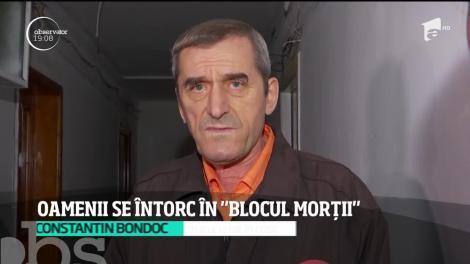 """Oamenii se întorc în """"blocul morții"""" din Timișoara"""