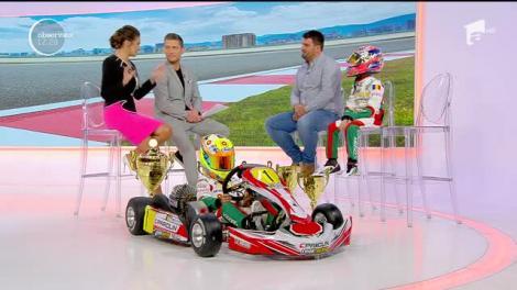 La numai 10 ani, David şi Bogdan sunt campioni naționali la karting