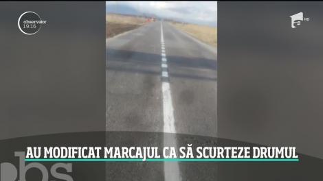 """""""La o parte, că mie nu îmi convine!"""". Un român a schimbat marcajul pe un drum naţional după bunul plac! Ce pedeapsă riscă"""
