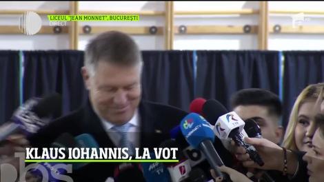"""Klaus Iohannis a votat  la Liceul """"Jean Monnet"""""""