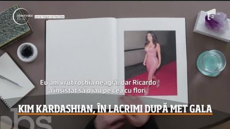 Kim Kardashian, în lacrimi după MET Gala. Look-ul ei a generat sute de glume în mediu online