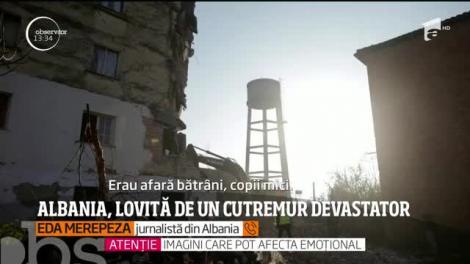 Şase oameni au murit iar 300 au fost răniţi după ce Albania a fost lovită de cel mai puternic cutremur din ultimele decenii!