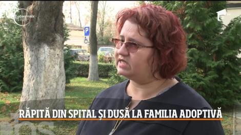 Fetiţa de şapte ani, răpită din spital și dusă la familia adoptivă