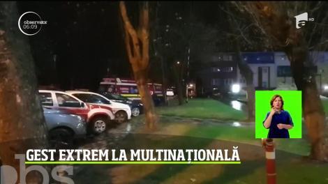 Problemele de la serviciu l-au determinat pe un bărbat din Timișoara să se arunce de la etajul cinci al multinaționalei la care lucra