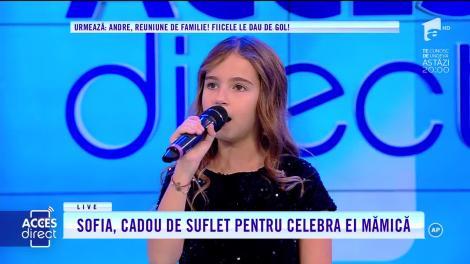 Acces Direct. Fetița Andreei Bănică moștenește talentul mamei. Ascultă aici cum cântă Sofia