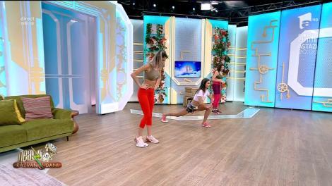 Fitness cu Diana Stejereanu, la Neatza cu Răzvan și Dani. Exerciții pentru coapse și fesieri cu ajutorul unei farfurii