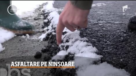 România stă foarte rău la capitolul infrastructură, dar unii edili acceptă asfaltarea pe ninsoare