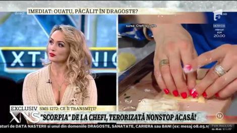 """Amalia Bellantoni, scorpia de la Chefi la Cuţite, terorizată după ce a apărut în emisiune: """"Oamenii cred că am o legătură cu Scărlătescu"""""""