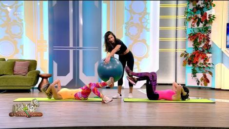 Fitness cu Diana Stejereanu, la Neatza cu Răzvan și Dani. Antrenament pentru două persoane cu ajutorul fitball-ului