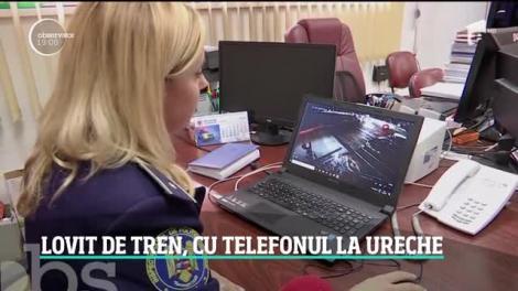 Un tânăr şofer din Cluj a fost la un pas să fie spulberat de tren din cauza telefonului mobil