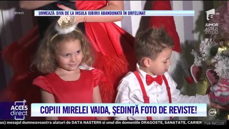 """Copiii Mirelei Vaida, sedință foto de reviste! Imagini de Crăciun cu familia prezentatoarei """"Acces Direct"""": """"L-ați dat pe bărbată-miu la tv!"""""""