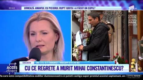 Acces Direct. Simona Secrier, soția lui Mihai Constantinescu, adevărul despre moartea regretatului artist: Cred că a regretat că nu a avut un copil