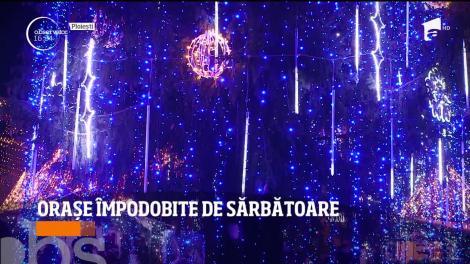 Sărbătorile de iarnă au deschis o adevărată competiție între orașele din România. Cine are cele mai frumoase luminițe