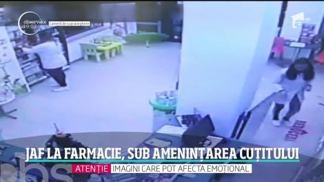 Jaf la o farmacie din Suceava, sub amenințarea cuțitului