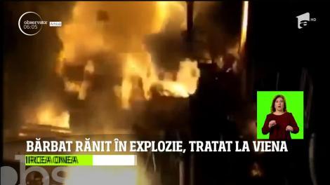 Un muncitor din Baia Mare a ajuns la spital cu arsuri grave, după ce cazanul în care se topea metalul i-a explodat în faţă