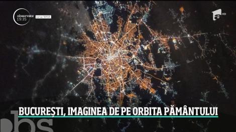 Cum arată Bucureștiul văzut din Stația Spațială Internațională! Peste 10.000 de români au văzut fotografia