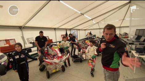 David şi Bogdan, plini de emoții la circuitul internaţional de karting de la Napoli