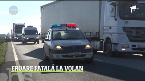 Accident grav în Mehedinţi. O femeie de 60 de ani a murit, iar un bărbat, cetăţean bulgar, se află în stare gravă la spital în urma unei erori fatale la volan