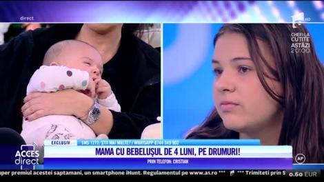 Acces Direct. Gonită de acasă, cu un bebeluş de doar 4 luni, în braţe?! Tânăra mămică, de numai 21 de ani simte că nu mai are nicio cale de salvare!