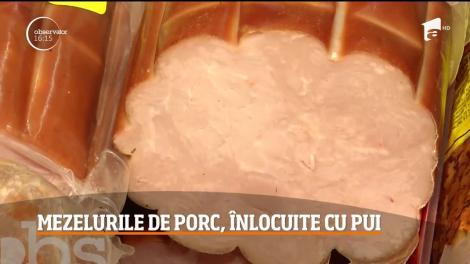 Mezelurile de porc, înlocuite cu pui