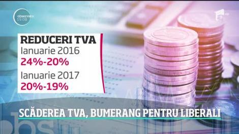 Proiectul liberalilor de reducere a TVA de la 19 la 16 la sută s-a întors ca un bumerang în Parlament