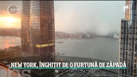 Imagini incredibile în New York: Un nor dens pare că înghite oraşul