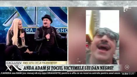 Dan Negru le-a făcut câteva farse colegilor din platou! Anda Adam şi Romică Ţociu, printre victimele celebrului prezentator