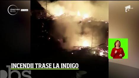 Două incendii trase la indigo în Argeș. Focul a fost pus intenționat