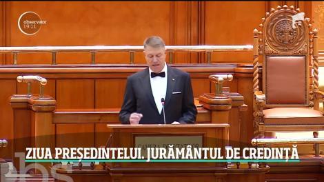 Klaus Iohannis a depus din nou jurmântul de credinţă în faţa Parlamentului
