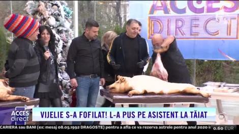 Tranșatul porcului, la Acces Direct! Maria Constantin, as în tăiatul cărnii