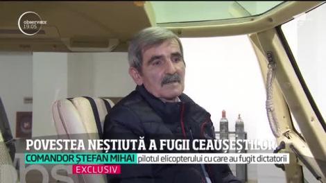 Ultimele zile din viaţa lui Nicolae Ceauşescu. Mărturia copilotului Ştefan Mihai: Era speriat şi disperat să-şi găsească salvarea