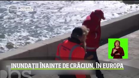 Inundații înainte de Crăciun, în Europa