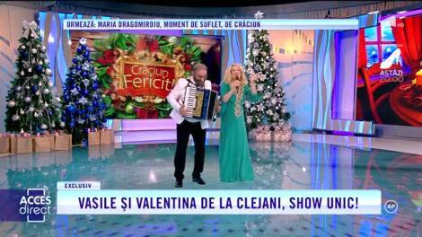 Acces Direct. Vasile Muraru şi Valentina Fătu de la Clejani, show unic! Moment umoristic