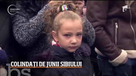 Turiști colindați de junii Sibiului în a doua zi de Crăciun