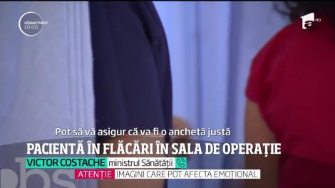 Incident şocant la Spitalul Floreasca din Capitală. O pacientă a luat foc în sala de operaţie!
